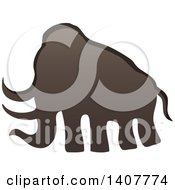 Clipart Of A Prehistoric Woolly Mammoth Caveman Petroglyph Royalty Free Vector Illustration by visekart