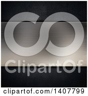 Clipart Of A Brushed Metal Panel Background Royalty Free Illustration