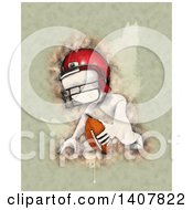 Clipart Of A Watercolor White Man Ready For Football Kick Off Royalty Free Illustration