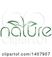 Clipart Of A Green Nature Design Element Royalty Free Vector Illustration by dero