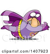 Clipart Of A Cartoon Heavy White Male Super Hero Stuck On The Ground Royalty Free Vector Illustration