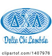 Poster, Art Print Of College Delta Chi Lambda Sorority Organization Design