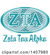 Poster, Art Print Of College Zeta Tau Alpha Sorority Organization Design