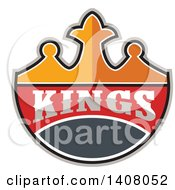 Clipart Of A Retro Crown With Kings Text Royalty Free Vector Illustration by patrimonio