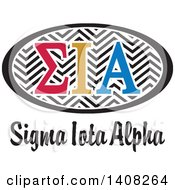 Poster, Art Print Of College Sigma Lota Alpha Sorority Organization Design