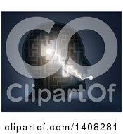 Clipart Of A 3d Head Shaped Maze With Light Depicting From Thought To Speech Royalty Free Illustration by Mopic