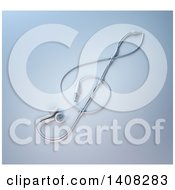 Clipart Of 3d Earbuds In The Shape Of A Music Clef Royalty Free Illustration by Mopic