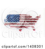 Clipart Of A 3d Crowd Of People Forming An American Flag And Usa Map Royalty Free Illustration