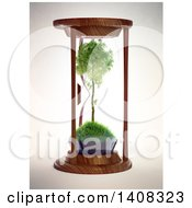 3d Tree Inside An Hourglass