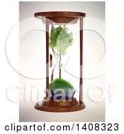 3d Tree Inside An Hourglass
