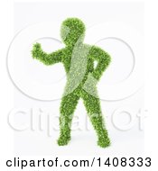 Clipart Of A 3d Green Leafy Man On A White Background Royalty Free Illustration by Mopic