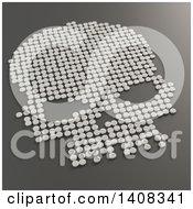 Poster, Art Print Of 3d Skull Formed Of Pills