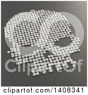 Clipart Of A 3d Skull Formed Of Pills Royalty Free Illustration by Mopic