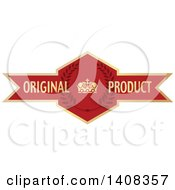 Red And Gold Luxurious Retail Ribbon Banner Design Element