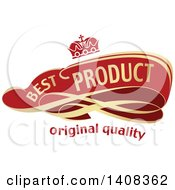 Red And Gold Luxurious Best Product Retail Ribbon Banner Design Element