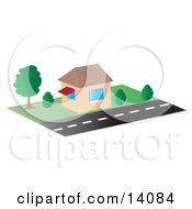 Roadside Building Clipart Illustration by Rasmussen Images