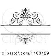 Black And White Wedding Swirl Design Element