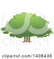 Clipart Of A House And Tree Royalty Free Vector Illustration