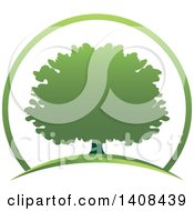 Clipart Of A Tree Design Royalty Free Vector Illustration by Lal Perera