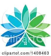 Clipart Of A Floral Tent Royalty Free Vector Illustration by Lal Perera