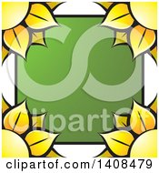 Clipart Of A Sunflower Border Royalty Free Vector Illustration by Lal Perera
