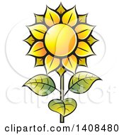 Clipart Of A Sunflower Royalty Free Vector Illustration by Lal Perera