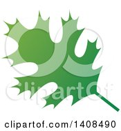 Clipart Of A Gradient Green Oak Leaf Royalty Free Vector Illustration by Lal Perera