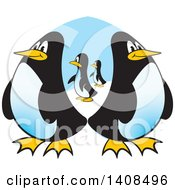 Clipart Of A Group Of Penguins Royalty Free Vector Illustration