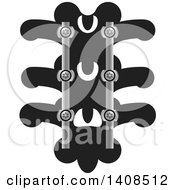 Clipart Of A Medical Spine With Screws Royalty Free Vector Illustration by Lal Perera