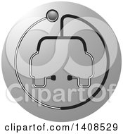 Clipart Of A Stethoscope Forming The Shape Of A Car Or Ambulance Over A Gray Circle Royalty Free Vector Illustration by Lal Perera