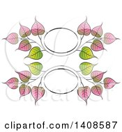 Clipart Of A Bo Leaf Frame Design Royalty Free Vector Illustration by Lal Perera