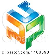 Clipart Of A Letter P Design Royalty Free Vector Illustration
