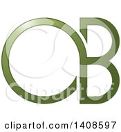 Clipart Of A Green Letter O And B Design Royalty Free Vector Illustration