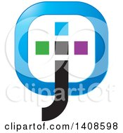 Clipart Of A Colorful Abstract Jto Design Royalty Free Vector Illustration by Lal Perera