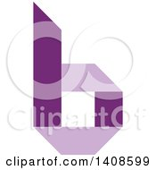 Clipart Of A Purple Letter B Royalty Free Vector Illustration by Lal Perera