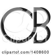 Clipart Of A Black And White C Or D And B Design Royalty Free Vector Illustration by Lal Perera
