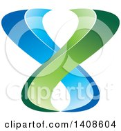 Clipart Of A Green And Blue Abstract Design Royalty Free Vector Illustration by Lal Perera