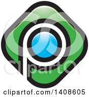 Clipart Of A Letter P Design Royalty Free Vector Illustration by Lal Perera