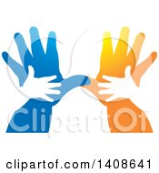 Silhouetted Hands