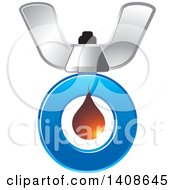 Clipart Of A Butterfly Nut And Letter O Royalty Free Vector Illustration