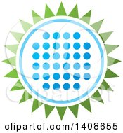 Clipart Of A LED Light Design In The Shape Of A Flower Or Sun Royalty Free Vector Illustration by Lal Perera