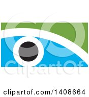 Clipart Of An Abstract Eye Design Royalty Free Vector Illustration by Lal Perera