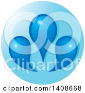 Clipart Of A Blue Circle With Water Drops Royalty Free Vector Illustration by Lal Perera