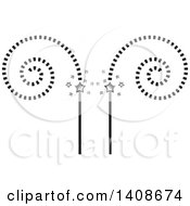 Clipart Of A Cinema Design With Spirals And Stars Royalty Free Vector Illustration by Lal Perera
