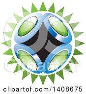 Clipart Of A Shining Planet With Gems Royalty Free Vector Illustration by Lal Perera