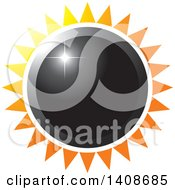 Clipart Of A Black Sun Or Flower With Rays Royalty Free Vector Illustration by Lal Perera