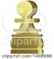 Clipart Of A Chess Pawn Piece Royalty Free Vector Illustration by Lal Perera