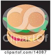 Tasty Double Cheeseburger Food