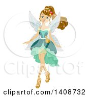Clipart Of A Caucasian Teen Girl In A Fairy Costume Royalty Free Vector Illustration