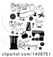 Black And White Sewing Items
